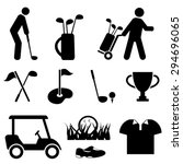 golf and golf player icon set | Shutterstock .eps vector #294696065