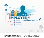 employee motivation concept and ... | Shutterstock .eps vector #294698069