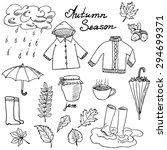 autumn season set doodles... | Shutterstock .eps vector #294699371