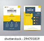 business brochure flyer design... | Shutterstock .eps vector #294701819