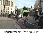Bicycle Commuters On Their Way...