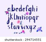 watercolor hand written font...   Shutterstock .eps vector #294714551