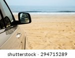 car parked on the beach.... | Shutterstock . vector #294715289