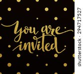 you are invited     gold...   Shutterstock .eps vector #294717527