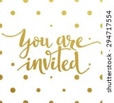 you are invited     gold... | Shutterstock .eps vector #294717554