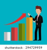 business profit design  vector... | Shutterstock .eps vector #294729959