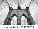 brooklyn bridge new york city... | Shutterstock . vector #294730691