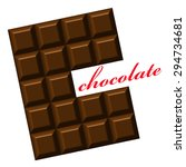 chocolate. design for logo  t... | Shutterstock .eps vector #294734681