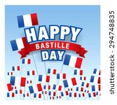 14 july. happy bastille day  | Shutterstock .eps vector #294748835