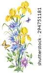 vertical composition of yellow... | Shutterstock . vector #294751181