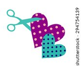 heart vector red symbol element ... | Shutterstock .eps vector #294754139