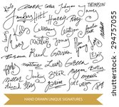 hand drawn signature collection.... | Shutterstock .eps vector #294757055