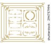 gold frame set vector  | Shutterstock .eps vector #294757994