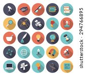 flat design icons for science...