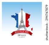 14 july. happy bastille day  | Shutterstock .eps vector #294767879