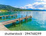 Wooden Pier For Mooring Boats...