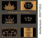 vector set of horizontal  vip... | Shutterstock .eps vector #294771011