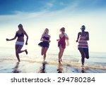 friendship freedom beach summer ... | Shutterstock . vector #294780284