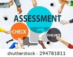Small photo of Assessment Calculation Estimate Evaluate Measurement Concept