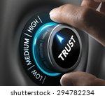 man fingers setting trust... | Shutterstock . vector #294782234