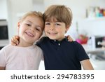 portrait of cute 4 year old kids | Shutterstock . vector #294783395