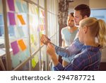 young creative business people... | Shutterstock . vector #294787721