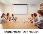 attentive business team... | Shutterstock . vector #294788054