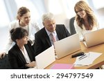 portrait of group of business... | Shutterstock . vector #294797549