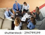 high angle view of business... | Shutterstock . vector #294799199