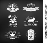 set of vintage craft logo... | Shutterstock .eps vector #294804089