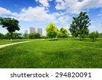 green trees and grass field in... | Shutterstock . vector #294820091