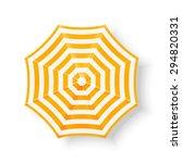 beach umbrella  top view.... | Shutterstock .eps vector #294820331