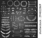 set of sketched design elements ... | Shutterstock .eps vector #294822869