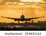 plane almost landed at the... | Shutterstock . vector #294831161