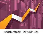 economy stock market go up ...   Shutterstock .eps vector #294834821