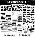 brush strokes big vector set.... | Shutterstock .eps vector #294844511