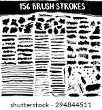 brush strokes big vector set....
