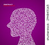 abstract human head. vector... | Shutterstock .eps vector #294845165