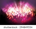 party people crowd  festive...   Shutterstock .eps vector #294849554