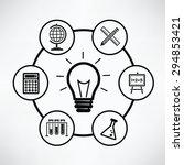 education concept circle info... | Shutterstock .eps vector #294853421