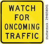 an australian warning traffic... | Shutterstock . vector #294858041