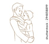 "daddy to hug the baby. ""line... 