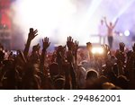 crowd at concert and blurred... | Shutterstock . vector #294862001