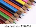 color pencil lined up in a row.