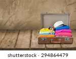 travel  bag  tourist. | Shutterstock . vector #294864479