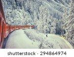 Red Train Of Bernina Swiss...