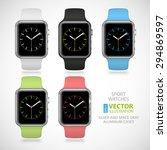 set of 5 modern shiny sport... | Shutterstock .eps vector #294869597