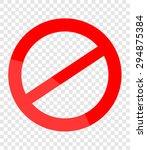 not allowed sign | Shutterstock .eps vector #294875384