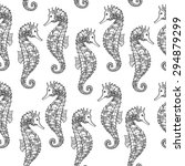 seamless pattern with hand... | Shutterstock .eps vector #294879299