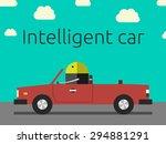 robot driving the car.... | Shutterstock . vector #294881291